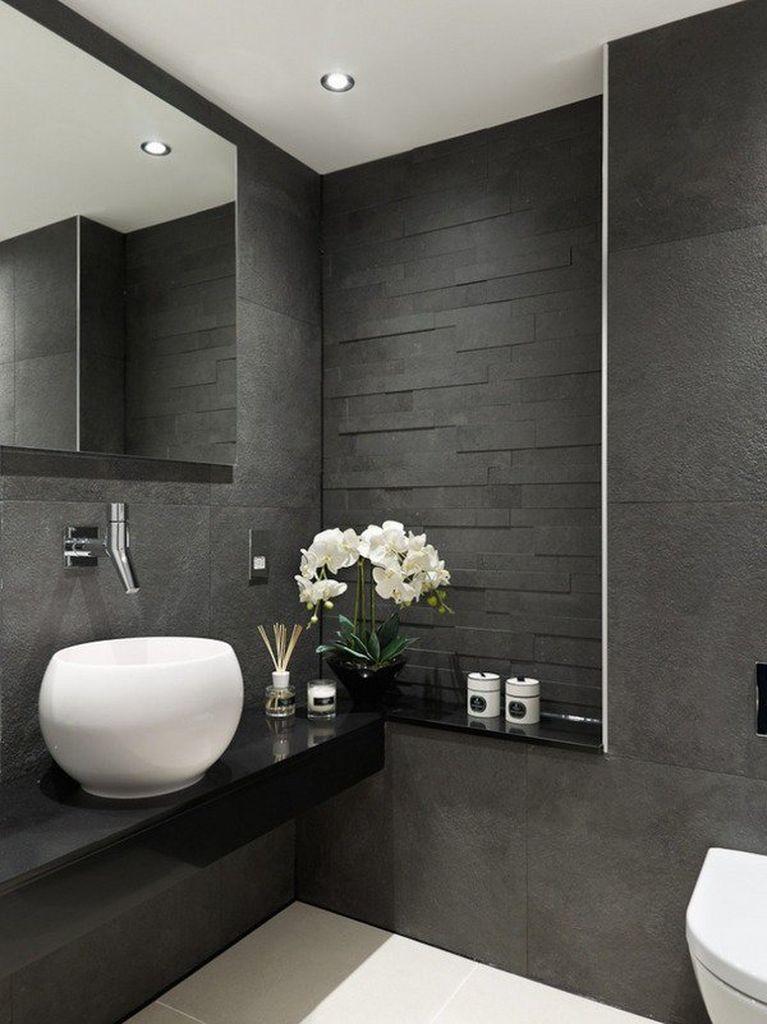 50 Elegant Modern Bathroom Design Ideas 19 Grey Bathroom