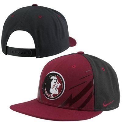 check out a04e8 11690 Nike Florida State Seminoles (FSU) True Icon Adjustable Snapback Hat -  Garnet
