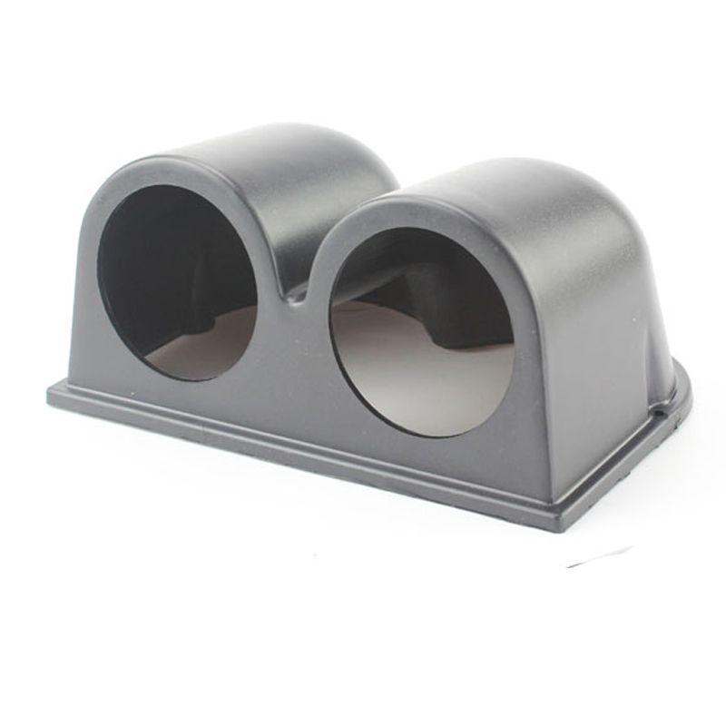 Freeshipping Double Dual Gauge Pod 52mm Hole Cup Car Gauge Pod Gauge Cap Cup Dash Pod Mount Holder Plastic Houder Auto Car Meter