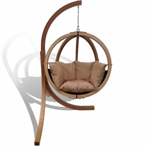 Charmant New Hanging Egg Round Chair Swing Pod  Outdoor Day Bed Timber Lounge Furniture