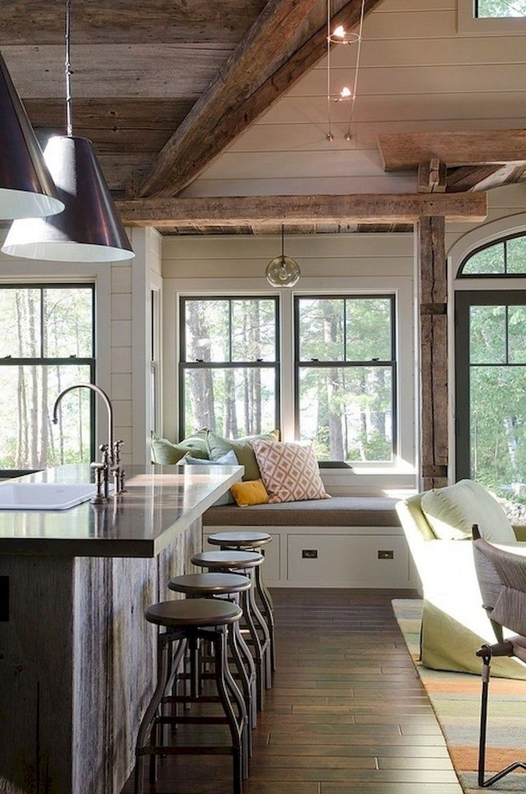 42 Comfy Lake House Living Room Decor Ideas Modern Cottage Decor Rustic Lake Houses Modern Cottage #rustic #lake #house #living #room