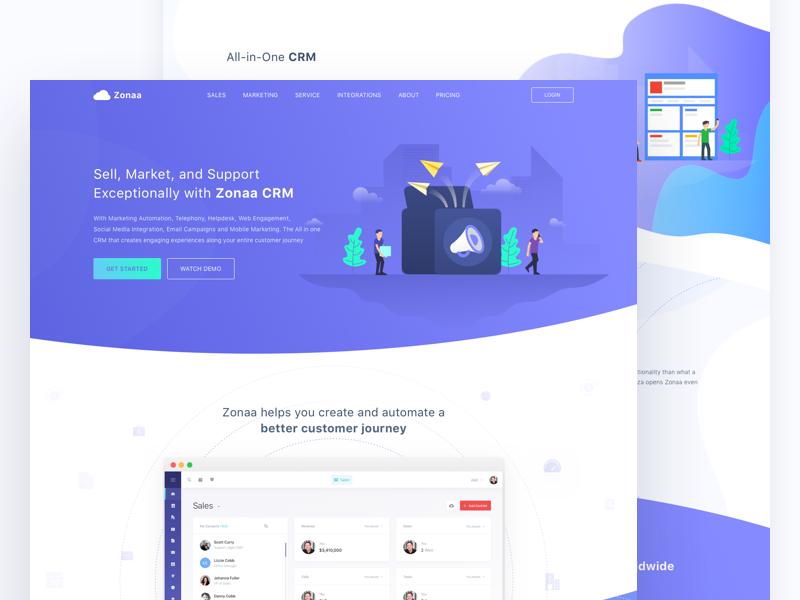Crm Homepage Best Landing Pages Homepage Design Web Design