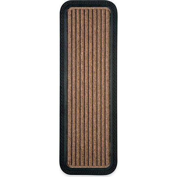 Set Of 4 Brown Rubber Back Stair Treads Indoor Outdoor Welcome Traction  Rugs New
