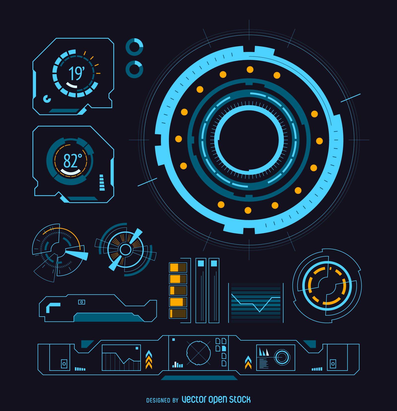 futuristic machine graphic overlay - HD1601×1658