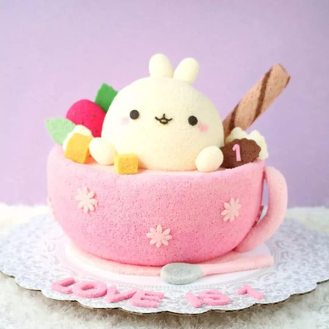 Cake Is Cuter Than Plush Toys Cute Baking Chiffon Cake Cute Desserts