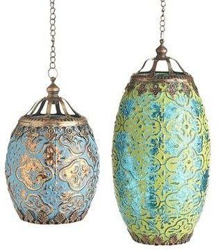 Bohemian Mercury Hanging Lantern - eclectic - Outdoor Lighting - Pier 1 Imports
