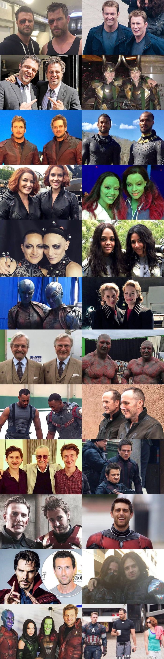 Marvel Superheroes and their Super stunt doubles