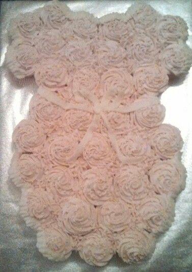 Baby Girl Onesie Cupcake Cake Baby Shower Options In