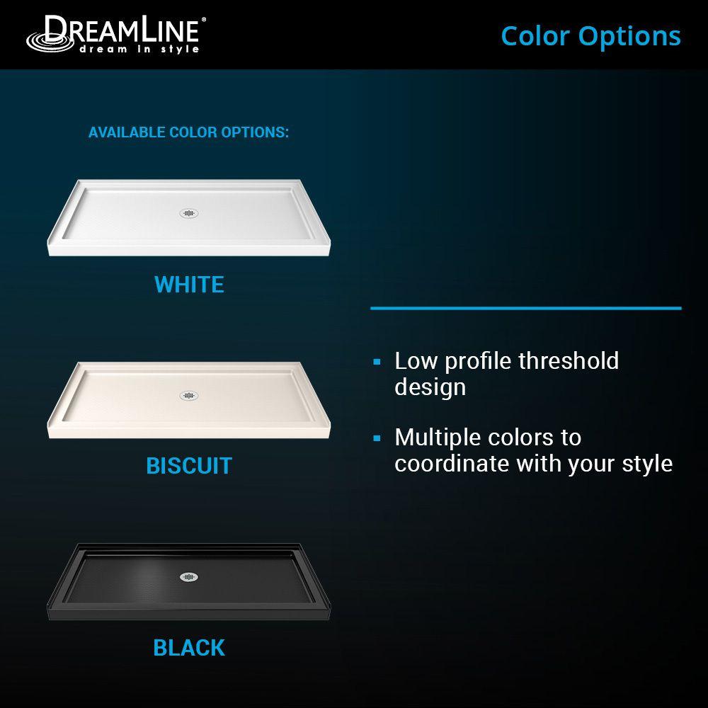 Dreamline Slimline White Acrylic Shower Base 34 In W X 42 In L