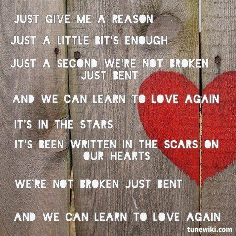 Just Give Me A Reason By P Nk Ft Nate Ruess From Fun I