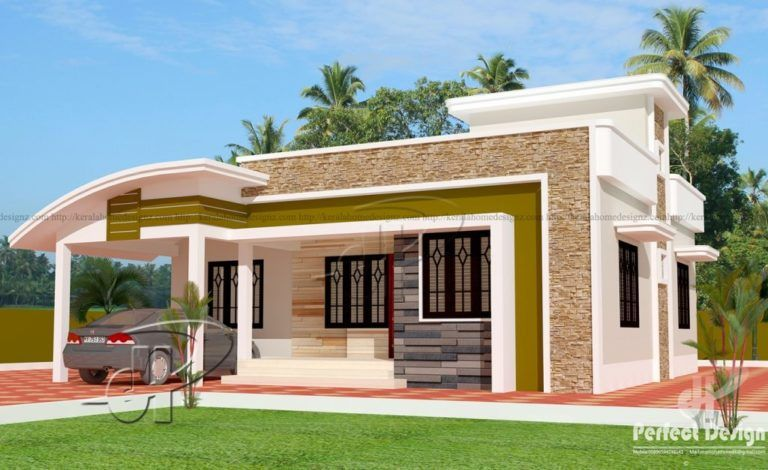 1000 Square Feet 3 Bedroom Single Floor Modern Home Design And Plan Bungalow House Design House Front Design Modern House Plans