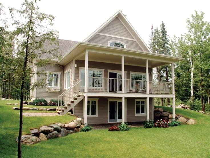 Walkout Basement House Plans Unique Ideas Lake Front House Plans