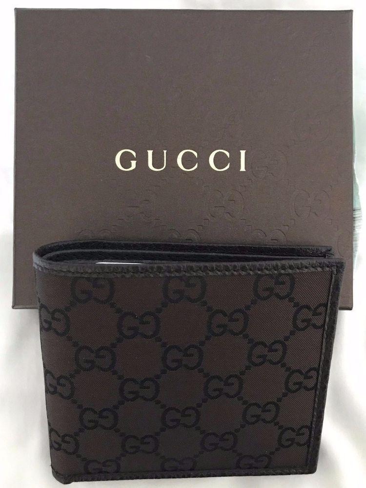 b21da5964b9 Gucci Brown Canvas and Leather Mens Prima Print