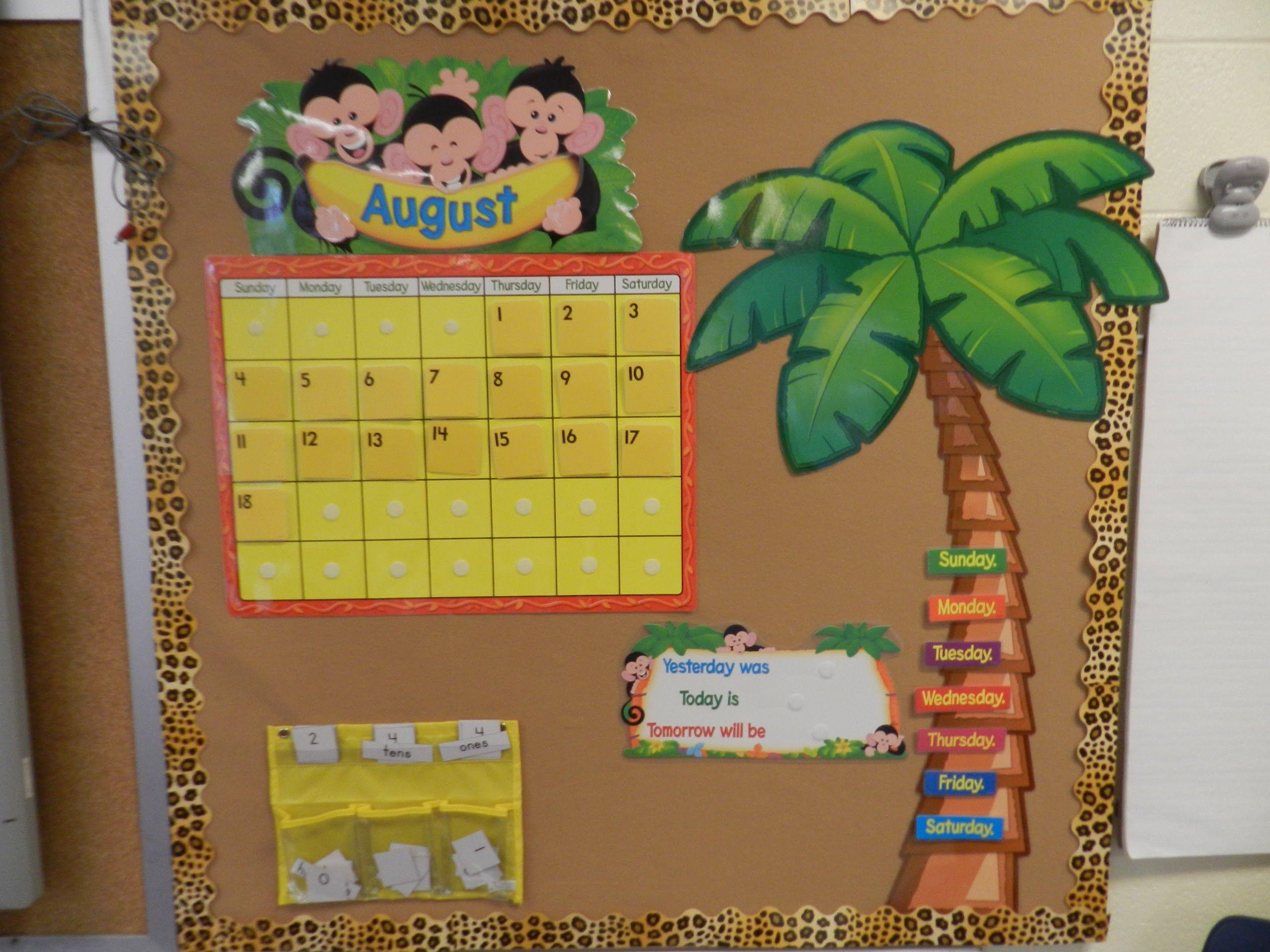 Jungle Calendar And Bulletin Board Made From A Foam