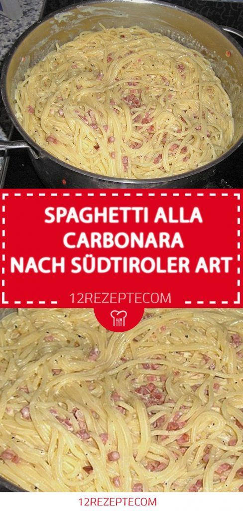 Photo of SPAGHETTI ALL CARBONARA AFTER SOUTH TIROLS ART 😍 😍 😍