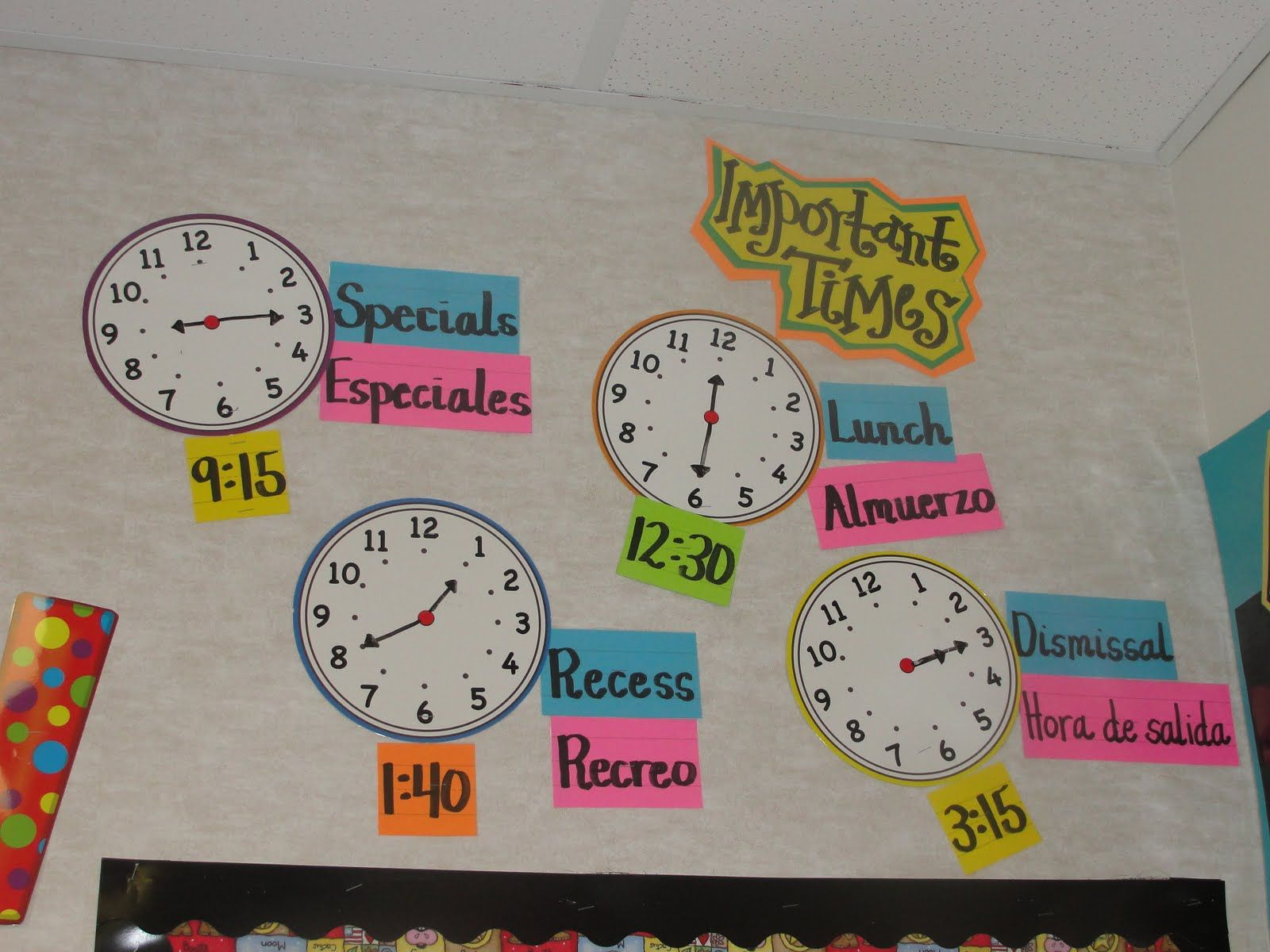 Important Times Display Love It So Useful For The What Time Is Questions