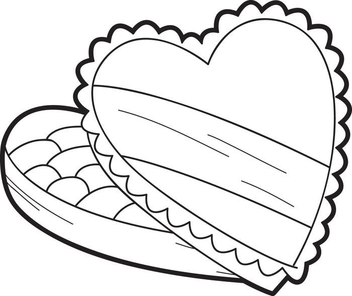 Valentine S Day Chocolates Coloring Page Valentines Day Coloring Page Valentines Day Coloring Coloring Pages