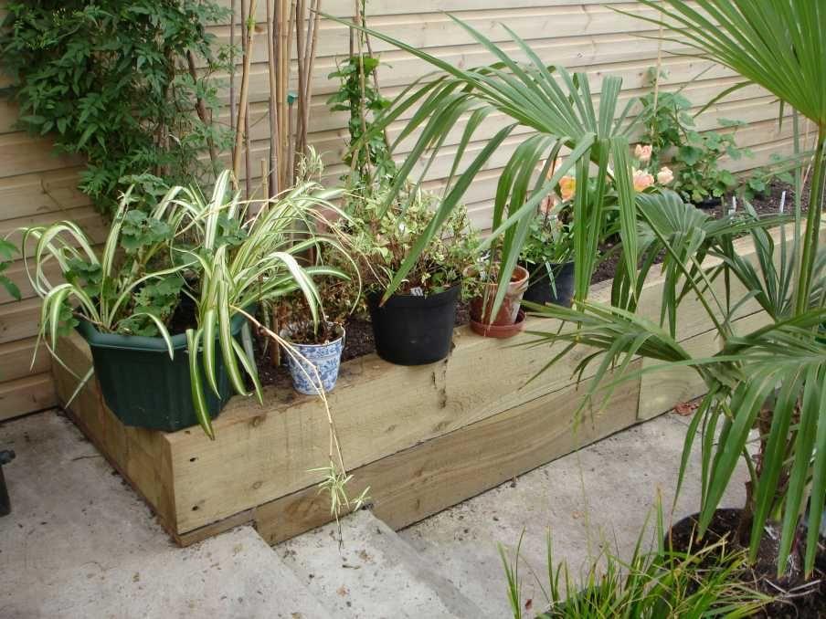 Kings Lynn project using railway sleepers 021 | garden | Pinterest ...