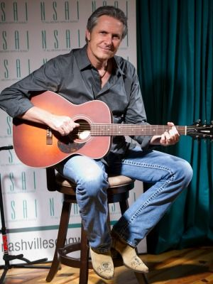 "Songwriter Jim Collins talks about co-writing ""She Thinks My Tractor's Sexy"" during an interview with Bart Herbison of the Nashville Songwriters Association International Friday, September 13, 2013 in Nashville, Tenn. (photo: Steven S. Harman/The Tennessean)"