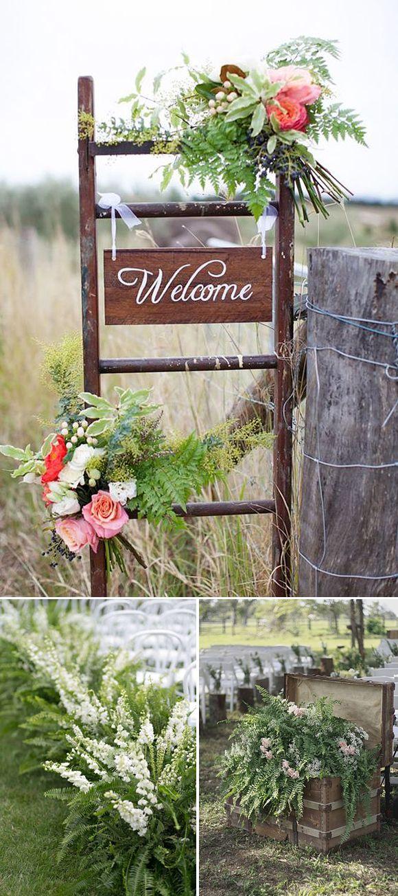 Decoracion con helechos Ideas para tu boda Helechos, La invitada