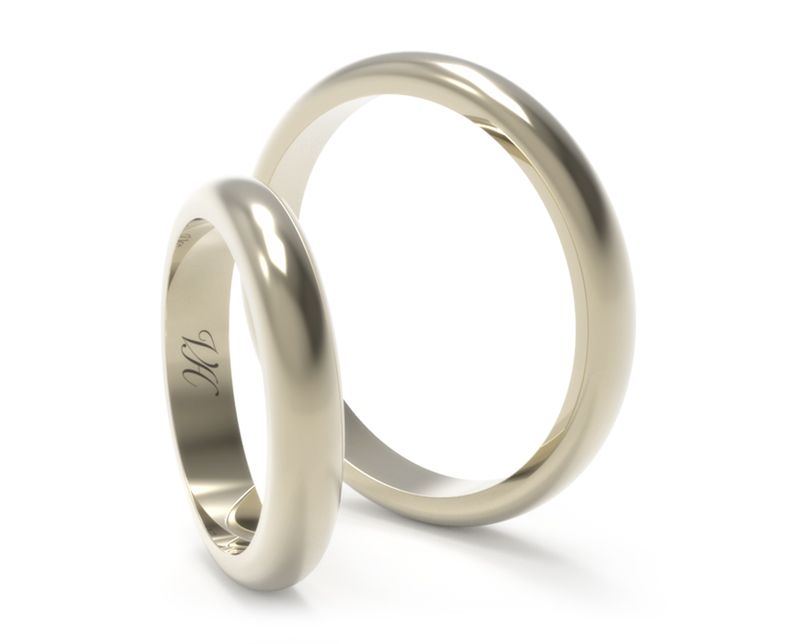 685f9e5061b5 Corte Inglés Oro Blanco Argollas de Matrimonio En Veronica Hecht Joyas