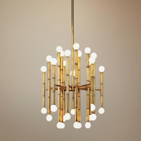 Jonathan adler meurice collection 30 light brass chandelier g2626 lamps plus