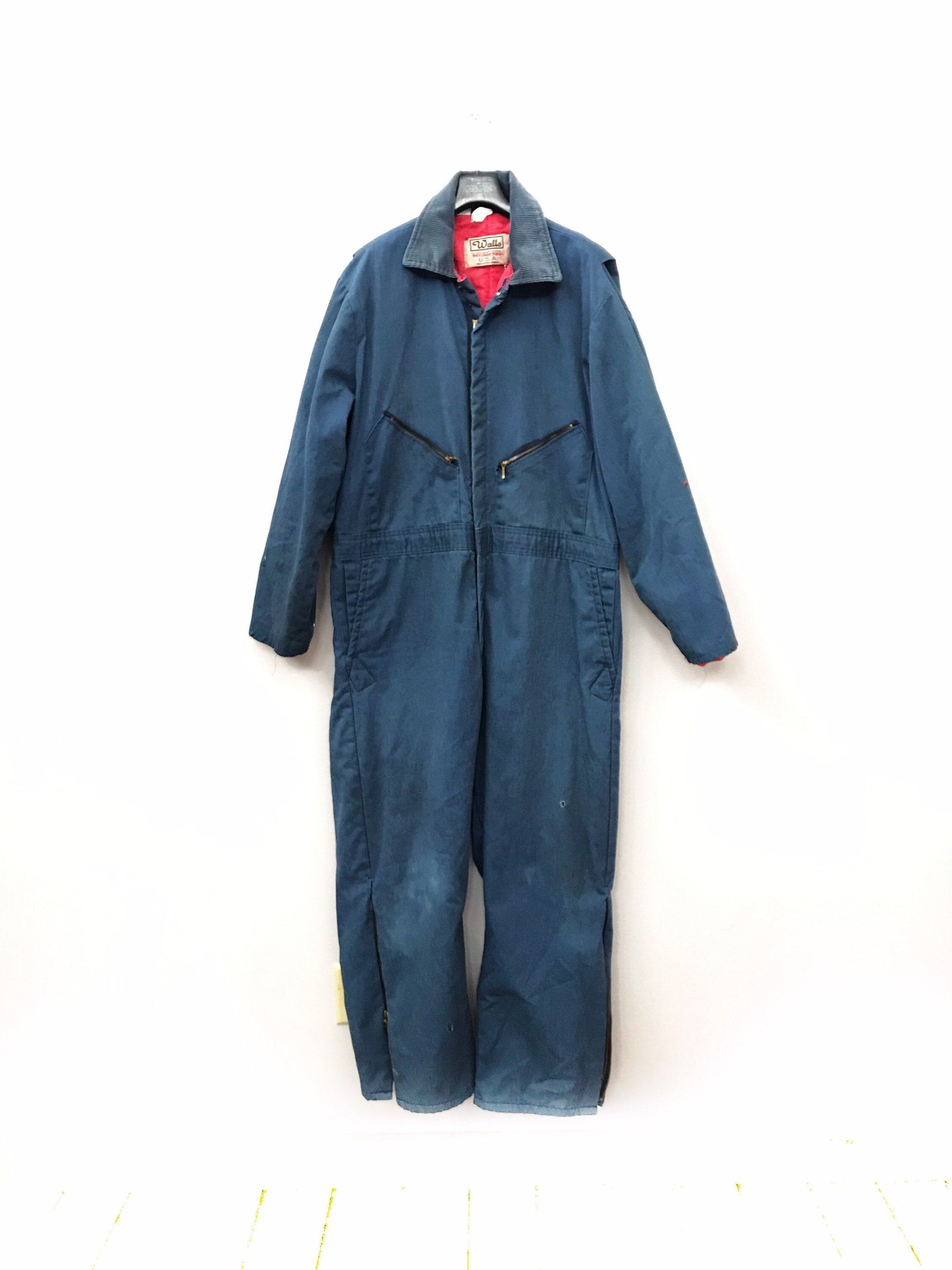 vintage walls blizzard pruf blue coveralls 1970s unisex on walls coveralls id=13160