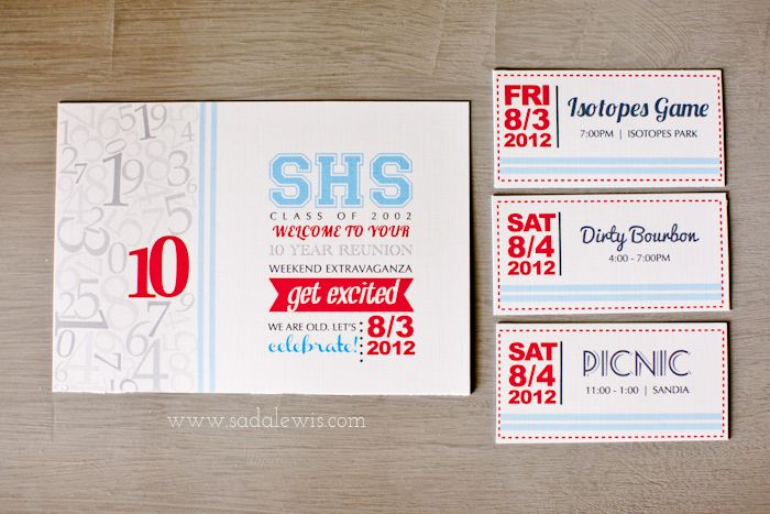 10 yr High School Reunion \/\/ Invitation Design » Casa de Lewis - class reunion invitation template