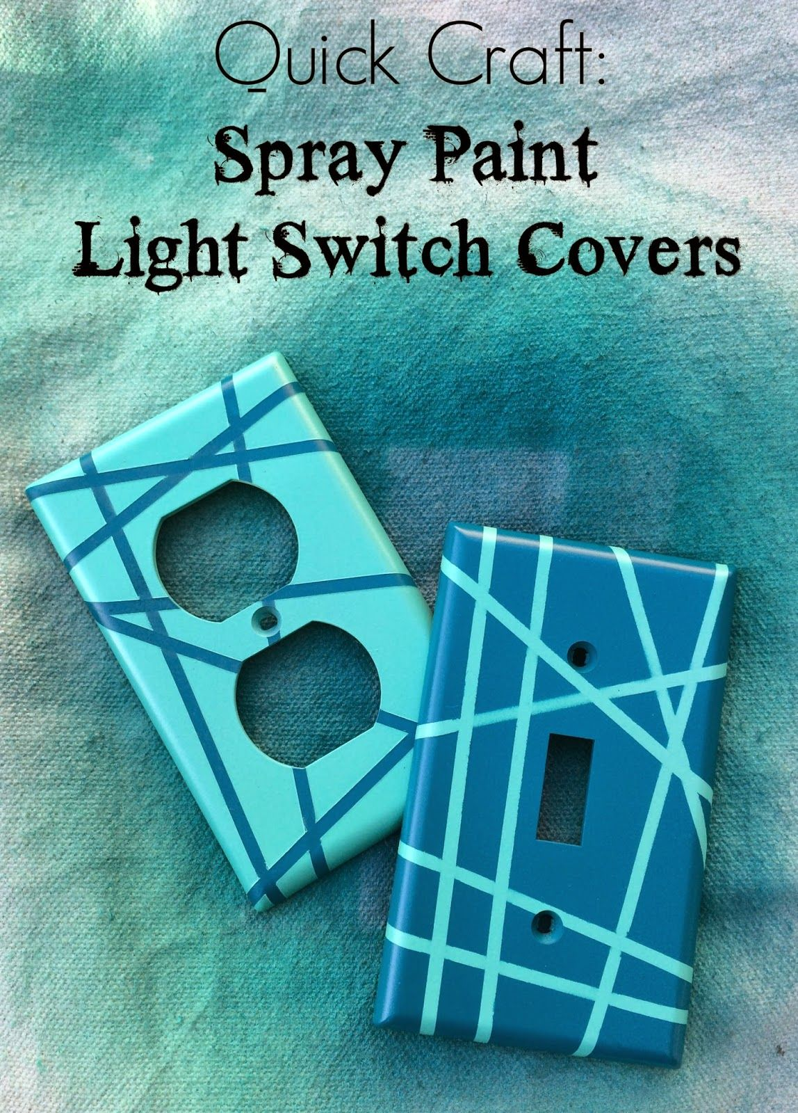 Quick Craft Spray Paint Light Switch Covers For The Home