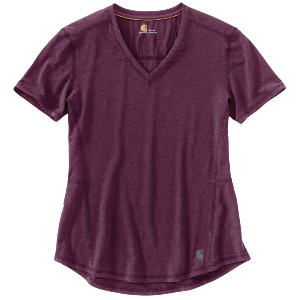 71c18a88c1bb16 Carhartt Women s Potent Purple Heather Force Ferndale Short Sleeve T-Shirt
