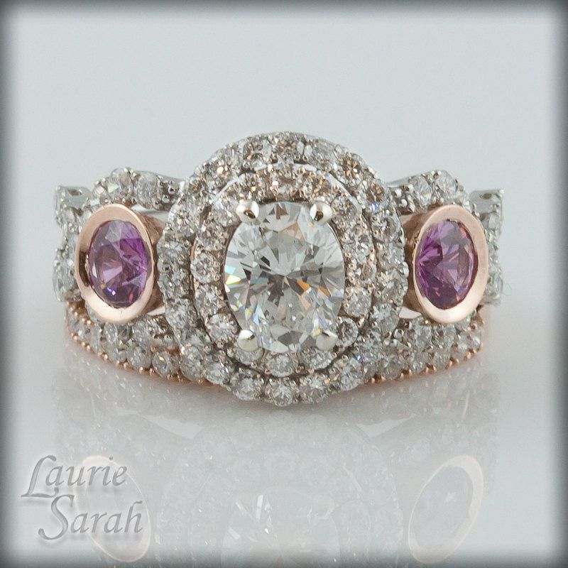Engagement Ring With Sapphire Side Stones