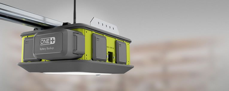 ryobi smart garage door opener has a fan laser beams co2 sensor u0026 speakers to rock out