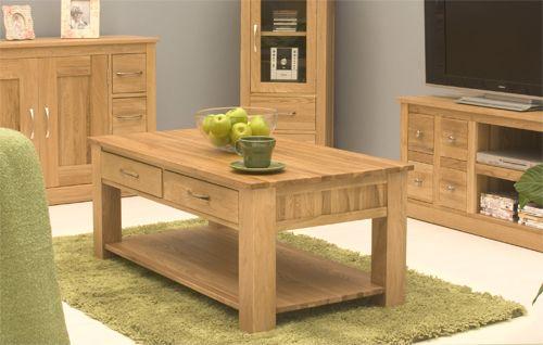 Mobel Oak 4 Drawer Coffee Table