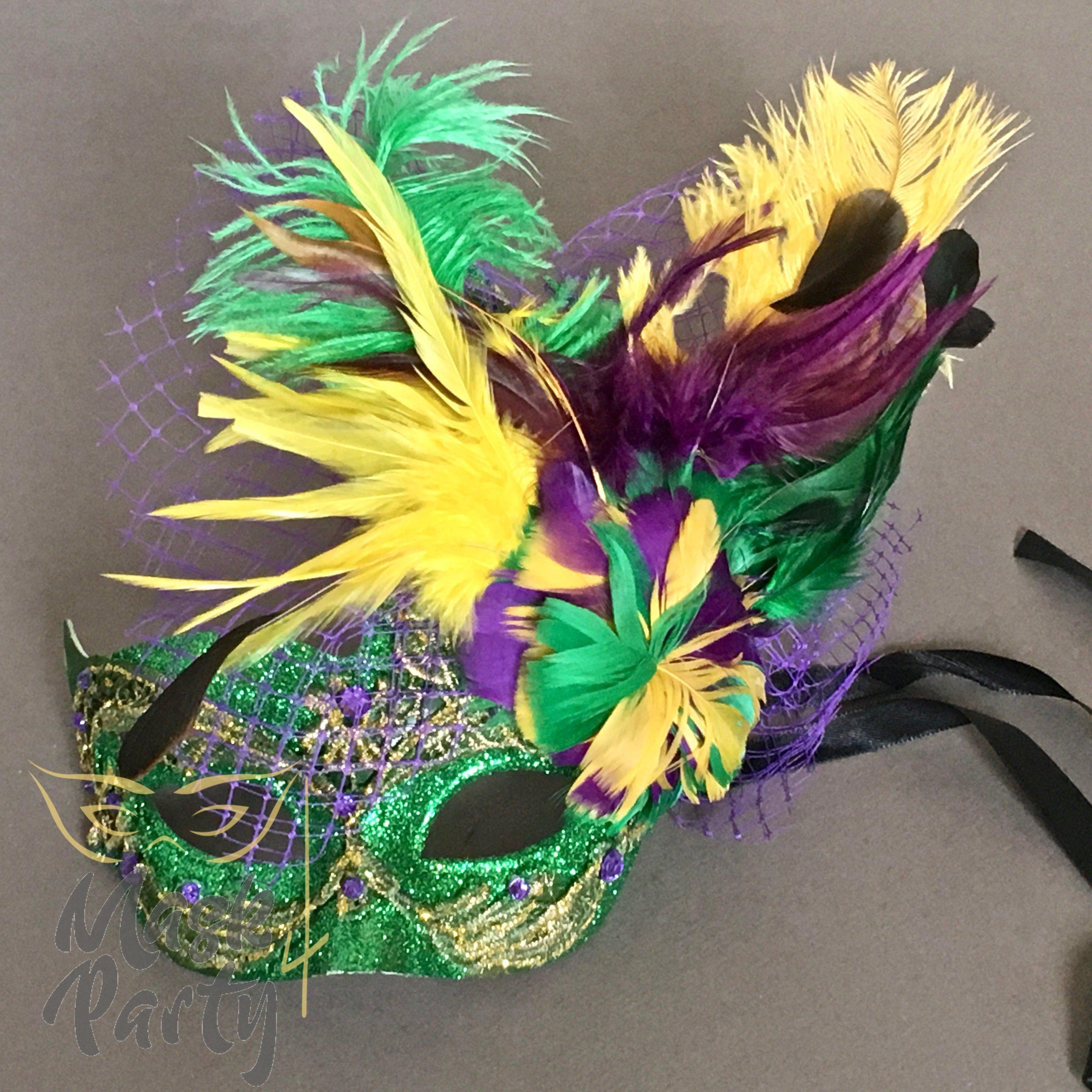 Green Venetian Masquerade Mask Party Prom Wedding Halloween Costume Mardi Gras