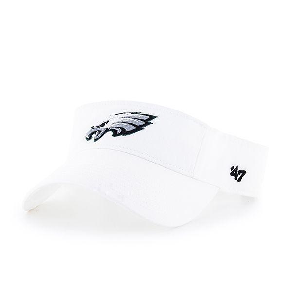 a86b1241e07 Philadelphia Eagles Clean Up Visor White 47 Brand Adjustable Hat ...