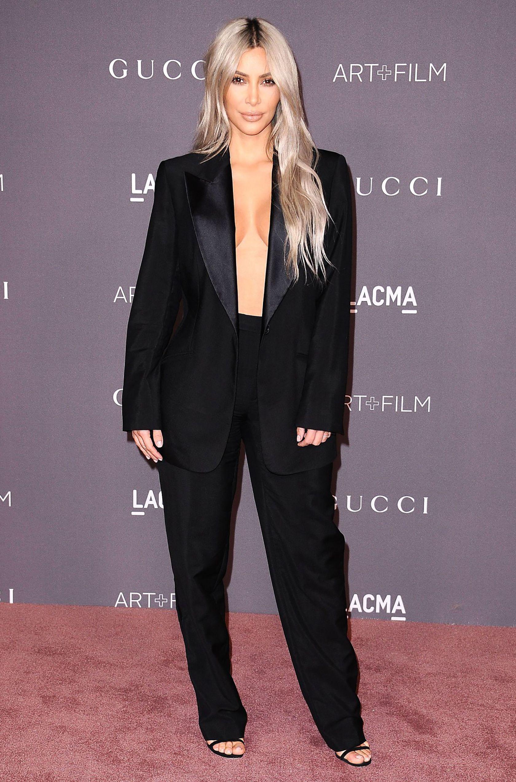 87dd79adf Sydne Style shows how to wear a pantsuit like kim kardashian in a black tux   celebritystyle  tuxedo  pantsuit  blazers