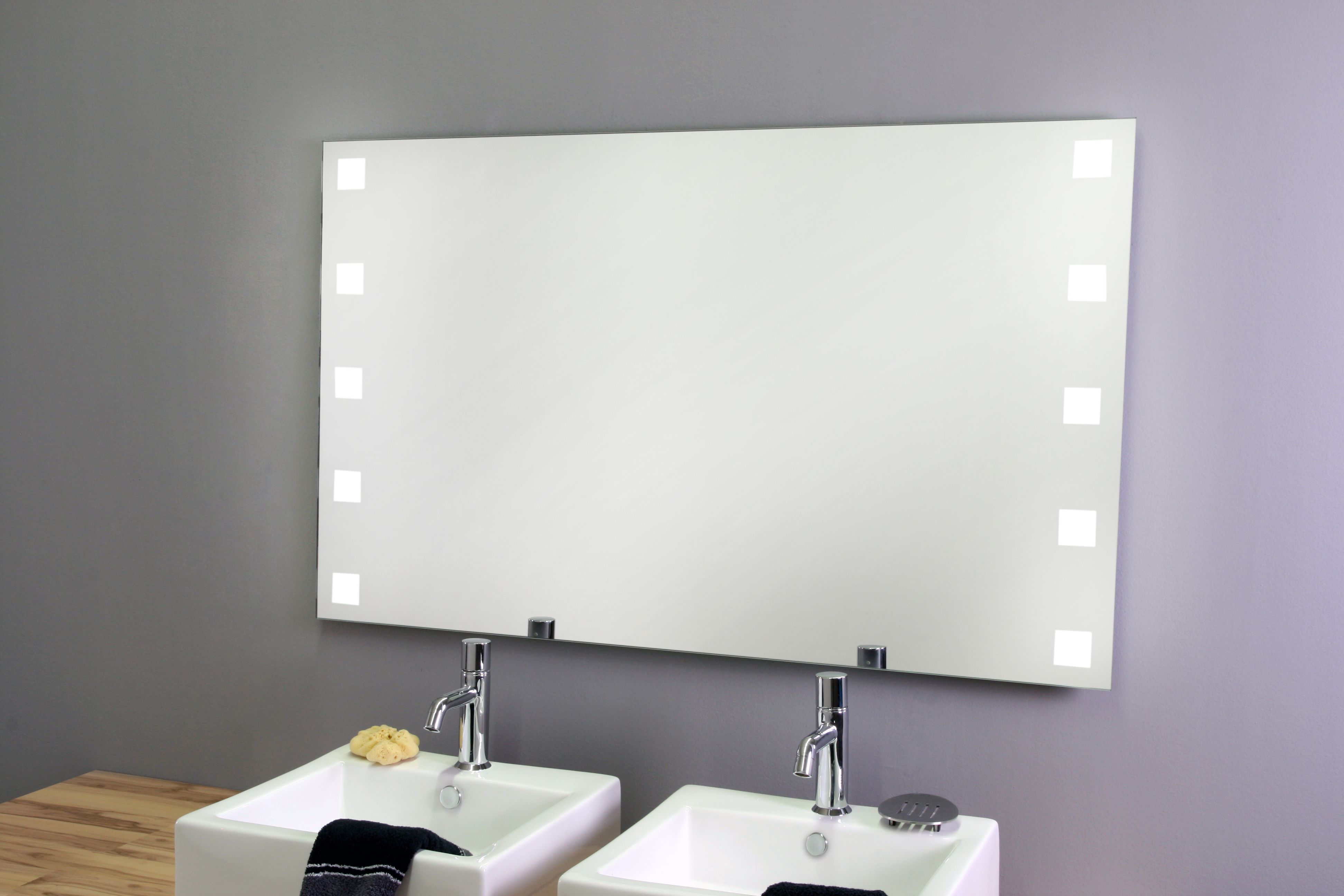Led Spiegel Carre Side Wohnzimmer Spiegel Wandspiegel Modern Badspiegel