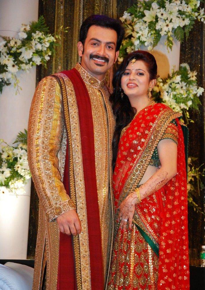 Prithviraj Supriya Menon Wedding Reception Stills Fashion P2
