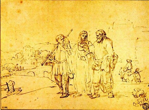 Les disciples d'Emmaüs à partir des tableaux de Rembrandt - Choisis la Vie