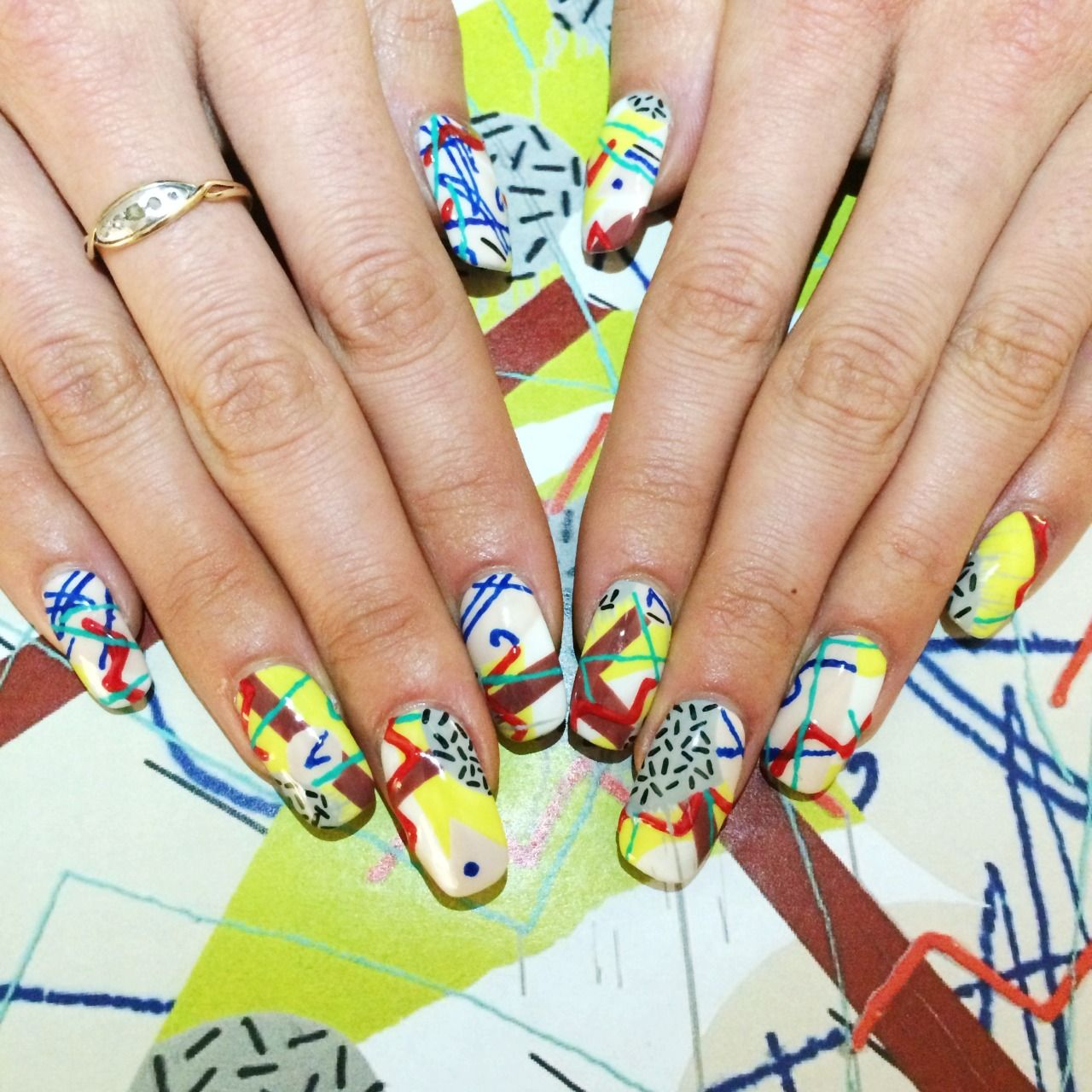 Inspired by Trudy Benson, \'Bop\', 2014 nail art history   Trudy ...