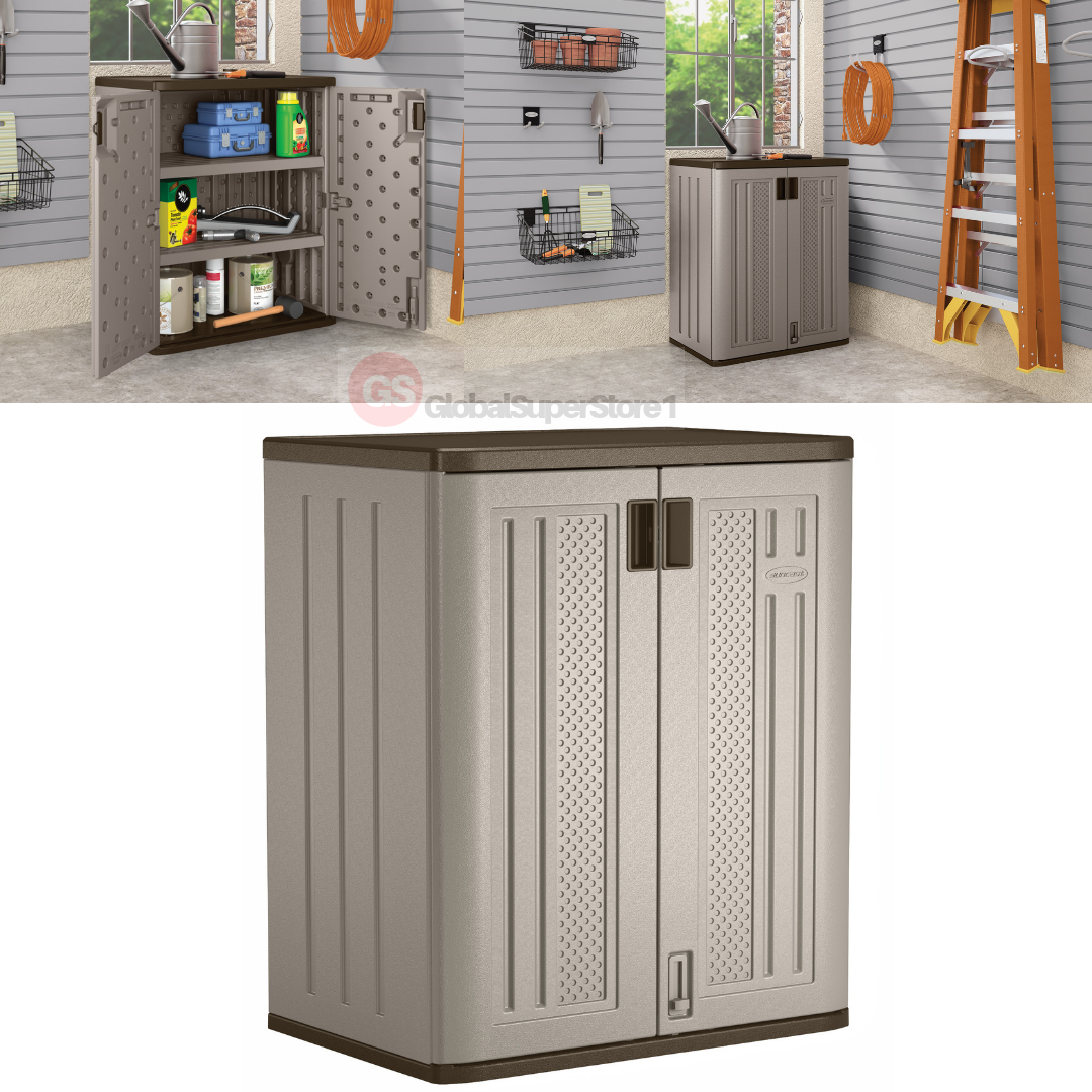 Outdoor Storage Cabinet Utility Base Box Yard Garden Patio Tool Shed Garage Deck Ou Outdoor Deck Storage Box Outdoor Storage Cabinet Garage Storage Cabinets