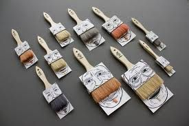 Turning a boring basic product to a fun design these paintbrushes look really creative as the actual paint brush makes the different characters. With different styles and sizes this  simple product completes a set and as it is made from cardboard this will be easy, quick  and cheap to produce.
