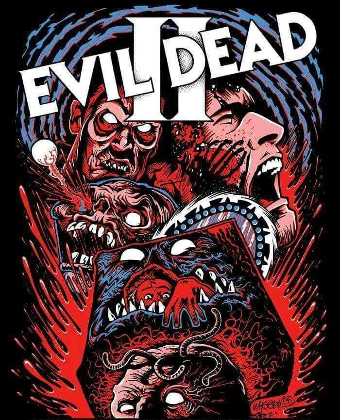 "EVIL DEAD II 2 Fabric Movie Poster 24/""x36/"" Horror Bruce Campbell Sam Raimi Ash"