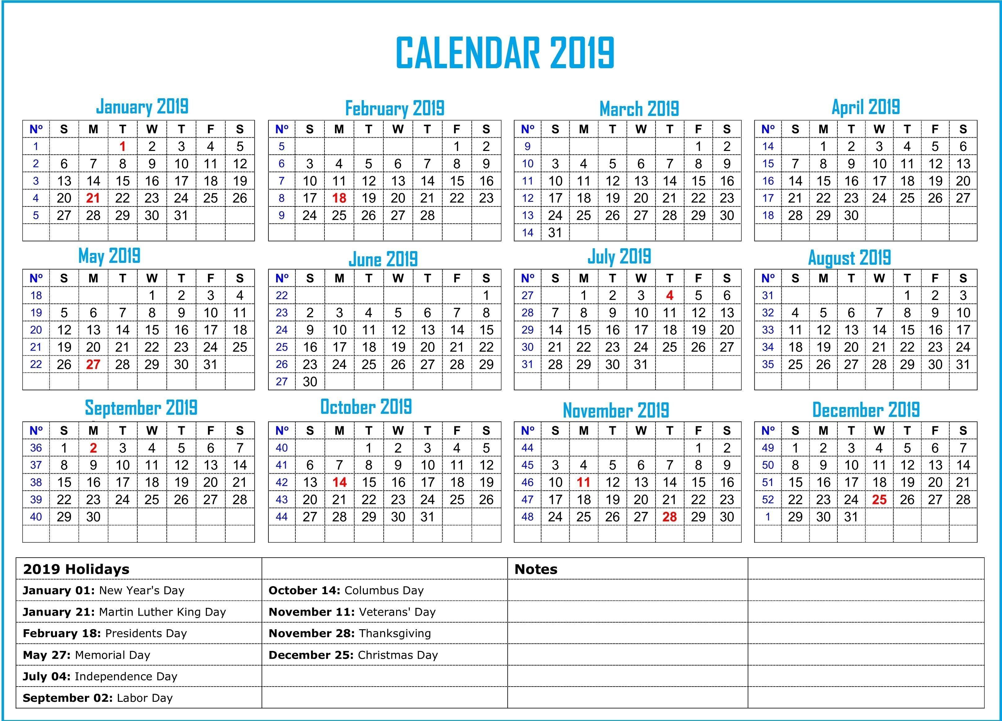 Get 7 Day Calendar August 2019 American Holiday Calendar Us
