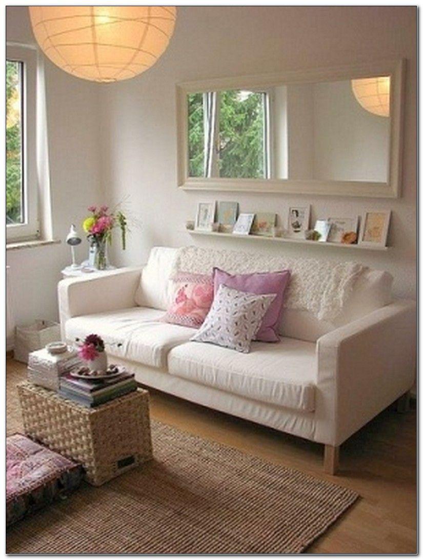 Shelf Under Mirror Living Room Ruangan Dinding Dekorasi #small #living #room #mirror
