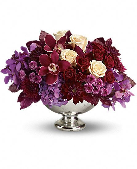 Teleflora S Lush And Lovely Flowers Teleflora S Lush And Lovely Flower Bouquet Teleflora Com Flower Arrangements Hydrangea Purple Floral Arrangements