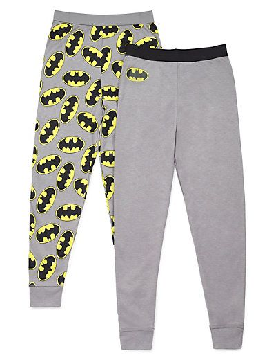 2 Pack Batman™ Long Pants (3-10 Years) | M&S