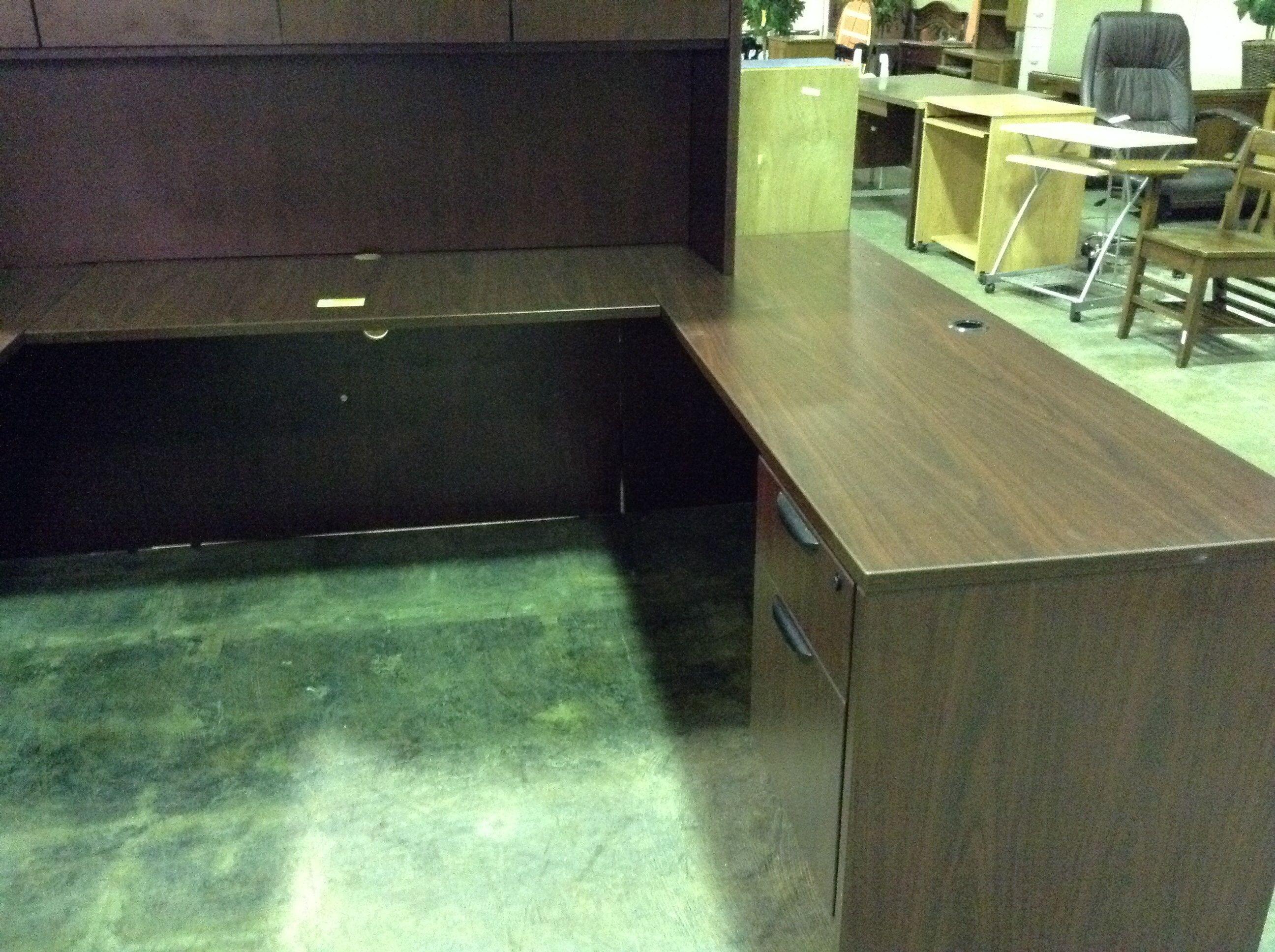 5pc Office Reception Desk With Hutch   $400   Consignment Furniture   Tulsa,  OK
