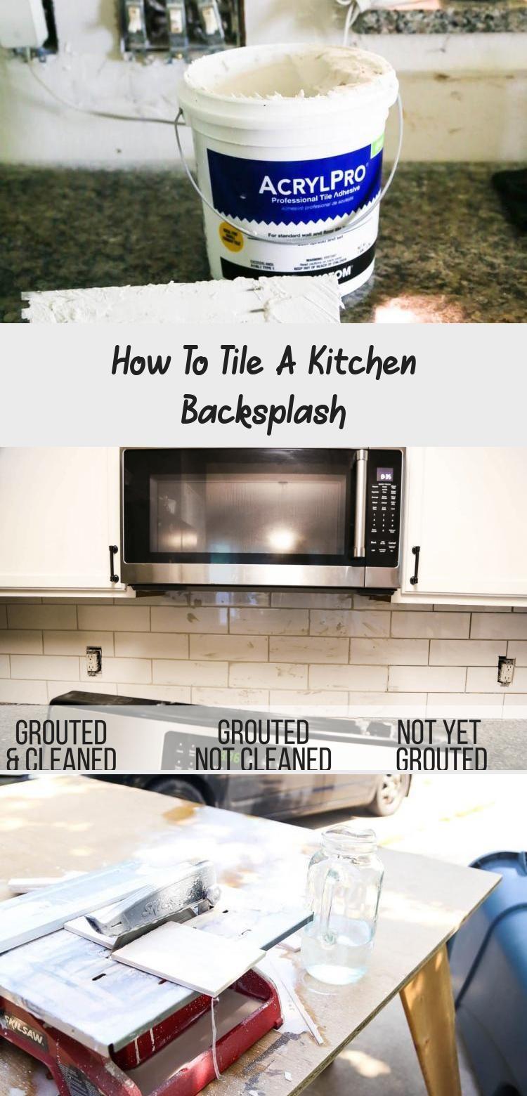 How To Tile A Kitchen Backsplash In 2020 Kitchen Backsplash