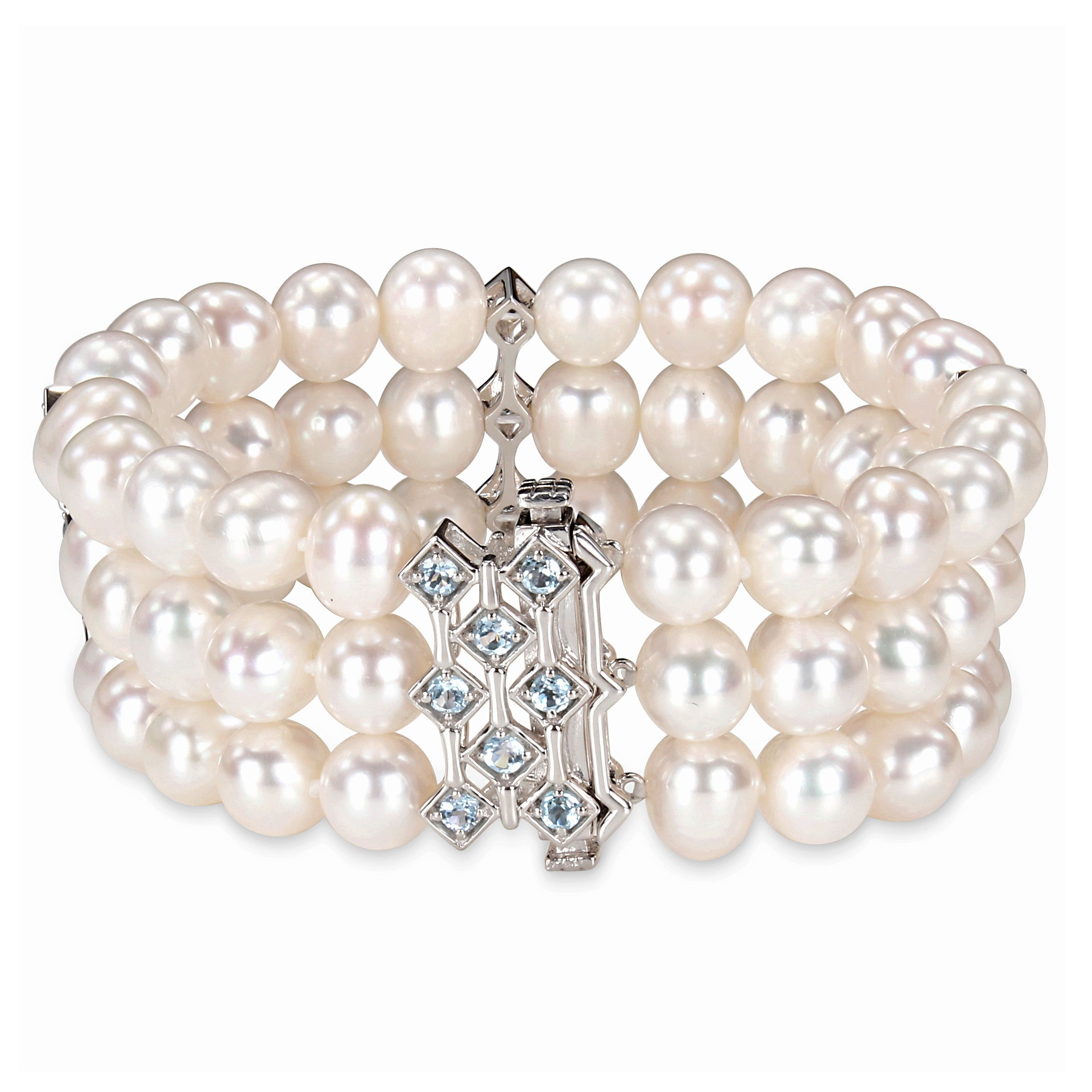 quick strand p view three white pearls pearl freshwater bracelet